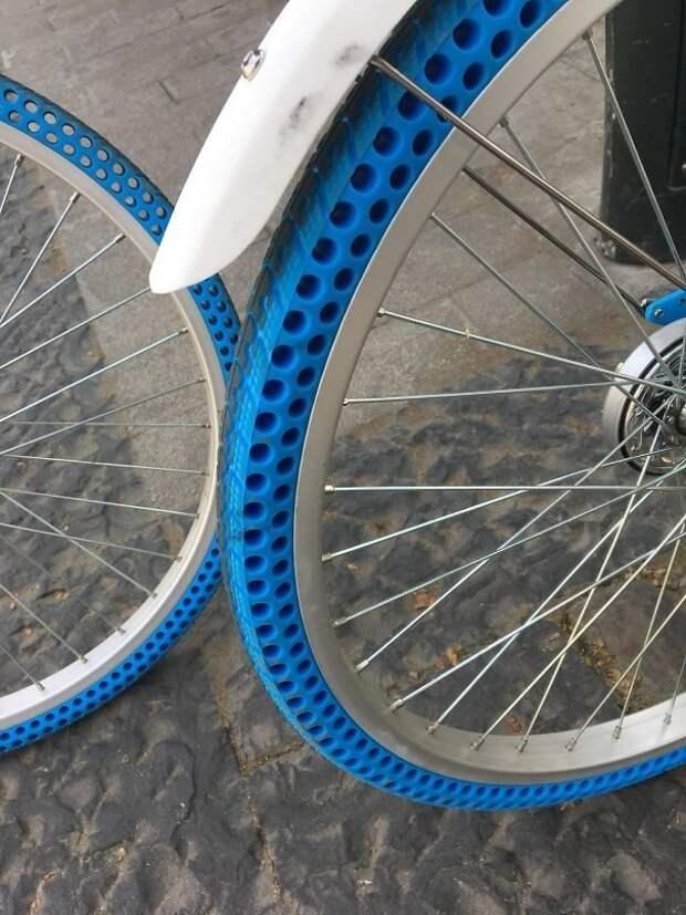 Велосипедные шины, которые не надо накачивать идеи, необычно, нестандартно, нестандартные идеи, оригинально, оригинальные решения, проблемы, решения