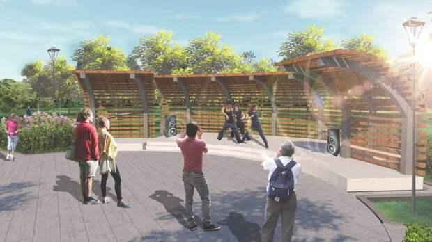 Мэр Москвы показал, как будут выглядеть обновленный парк и пространство у библиотеки в Северном