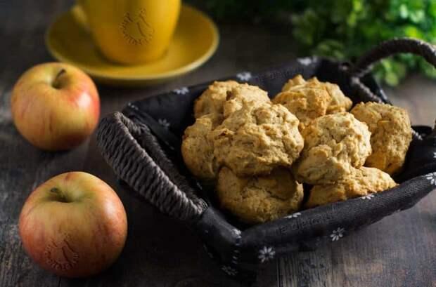 Мягкое печенье с яблоками