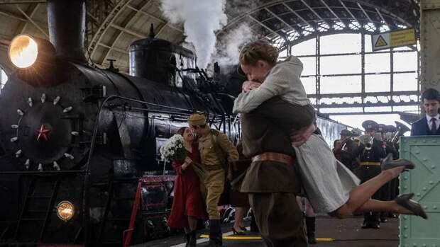 Парад паровозов впервые прошел на Витебском вокзале