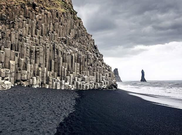 Черный пляж Вик, Исландия завораживающе, земля, интересное, красота, пейзажи, природа, фотомир