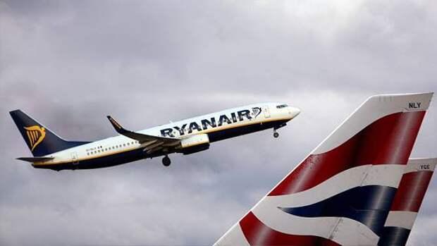 Британский антимонопольный регулятор начал проверку в отношении Ryanair и British Airways