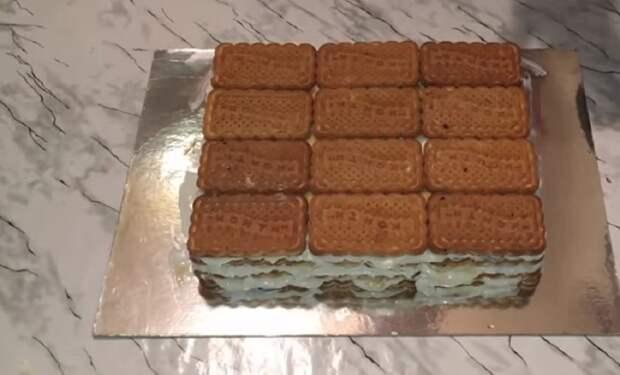 Волшебный тортик из печенья без выпечки. Записывайте простейший рецепт