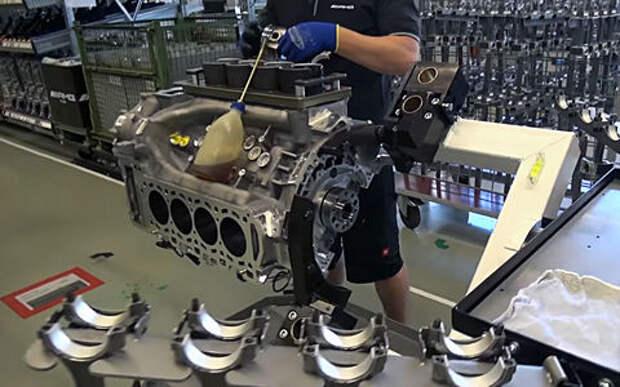 Как делают двигатели V8 AMG. Видеоэкскурсия