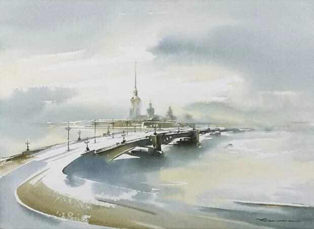 художник Константин Кузема акварель картины - 10