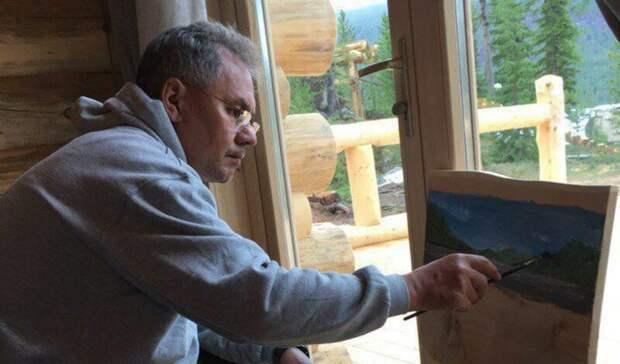 Шойгу продал свои картины и подделки из дерева за 40 млн рублей