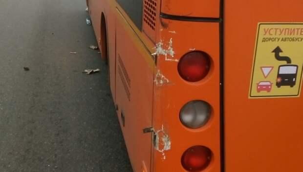 «Газель» врезалась в рейсовый автобус с пассажирами в Подольске
