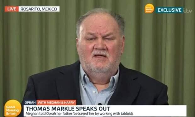 """Отец Меган Маркл осудил дочь за интервью Опре Уинфри: """"Я не считаю королевскую семью расистами"""""""