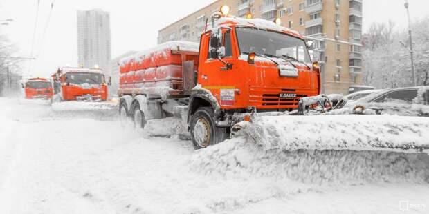 Коммунальные службы Ростокина устраняют последствия мощного снегопада