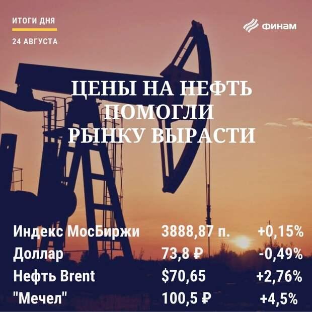 Итоги вторника, 24 августа: Дорожающая нефть помогла российскому рынку удержаться в плюсе