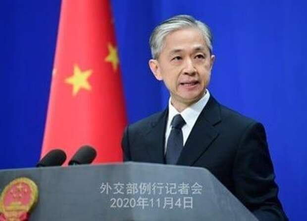Официальный представитель МИД Китая Ван Вэньбинь