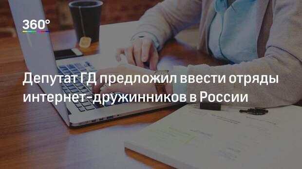 Депутат ГД предложил ввести отряды интернет-дружинников в России