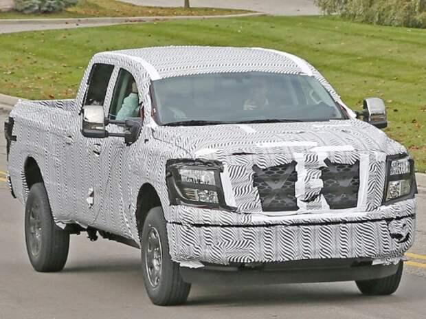 На тесты выехал новый пикап Nissan Titan