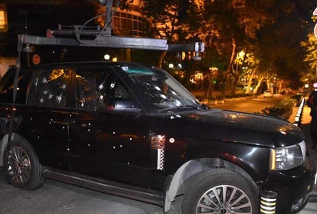 Расстрелянный Range Rover Ленкоранского