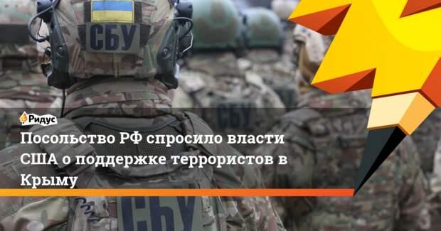 Посольство РФ спросило власти США о поддержке террористов в Крыму