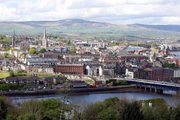 The Northern Irish city of Derry, forever associated with the so