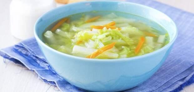 Суп с репой и капустой