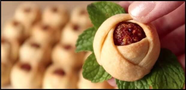 Печенье «РОЗОЧКИ» — красивая выпечка к чаю на ЙОГУРТЕ