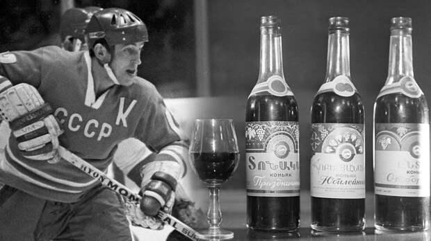 Легендарный гол советского хоккеиста Михайлова. Он получил бутылку коньяка за 100-ю шайбу сборной СССР на ЧМ-1973