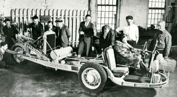 Сборка низкопрофильного шасси Dymaxion с задним подрамником под силовой агрегат авто, автомобили, атодизайн, дизайн, интересный автомобили, олдтаймер, ретро авто, фургон