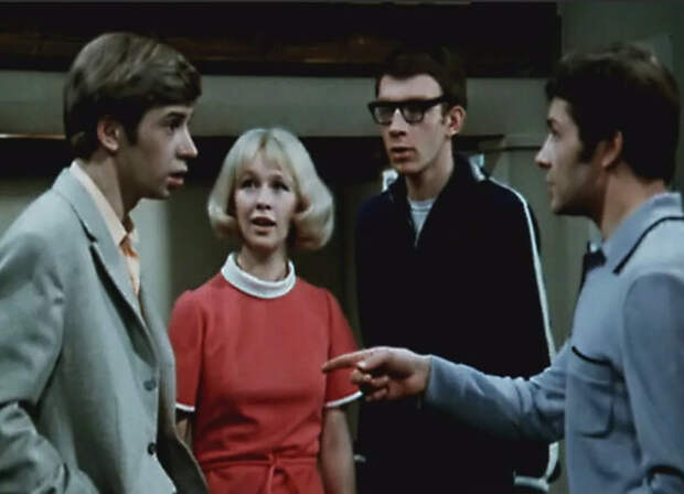 кадр из фильма «Жили три холостяка», 1973 год
