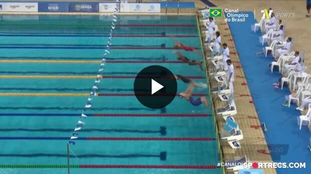 Etiene Medeiros vence, mas não consegue o índice olímpico nos 100m Costas Feminino - Dia 2 do Pré-Olímpico de Natação (20/04/2021)