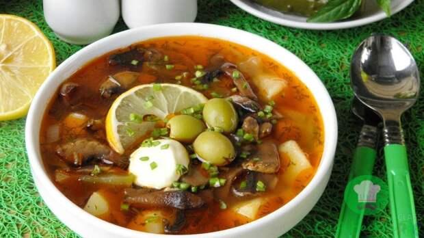 Как приготовить солянку с грибами по-сибирски