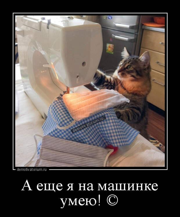 демотиватор А еще я на машинке умею! ©  - 2020-5-15