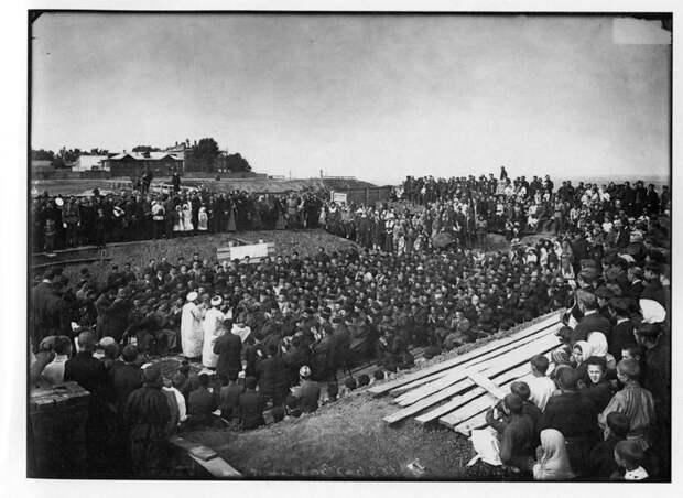 Закладка городской соборной мечети в Нижнем Новгороде. 1902 г. История в фотографиях, россия