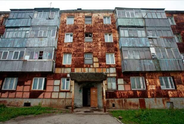 Довольно жудкое зрелище, на Камчатке стены многоэтажек покрыты ржавчиной почему это происходит?
