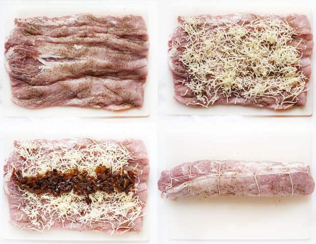 Корейка по-французски, фаршированная луком:  деликатес своими руками