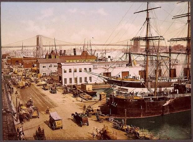 Нью-Йорк 1900 года вцвете