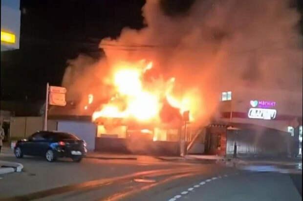 В Сочи произошел пожар в чебуречной