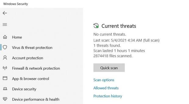 Microsoft Security Offline Scan Report