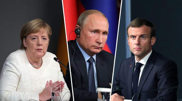 «Это плохо кончится»: Меркель и Макрон решили не перечить Путину по Белоруссии
