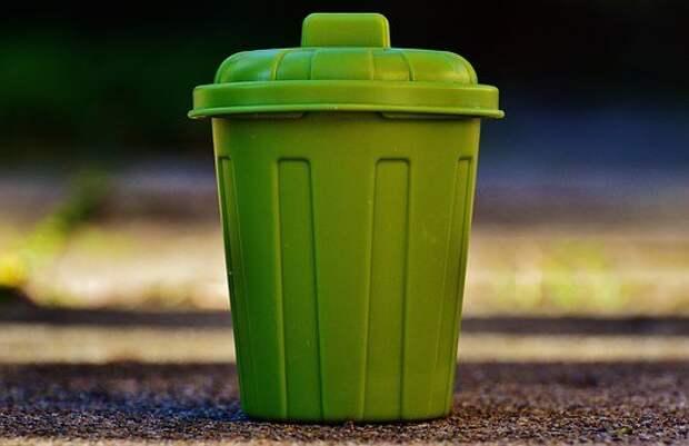 Мусорный Ящик, Мусор, Ведро, Зеленый