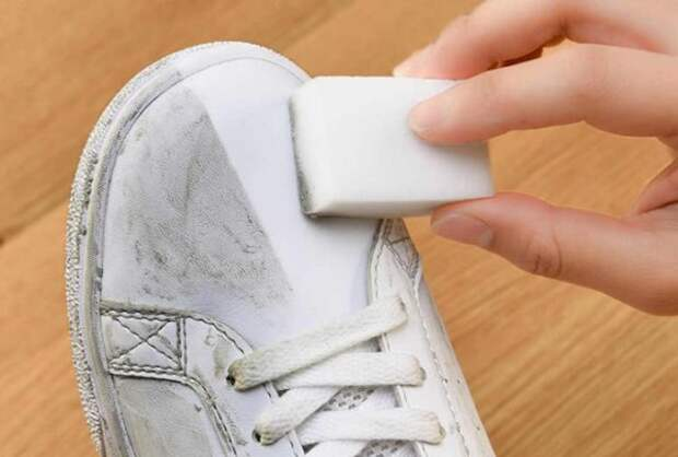 меламиновая губка для белой обуви