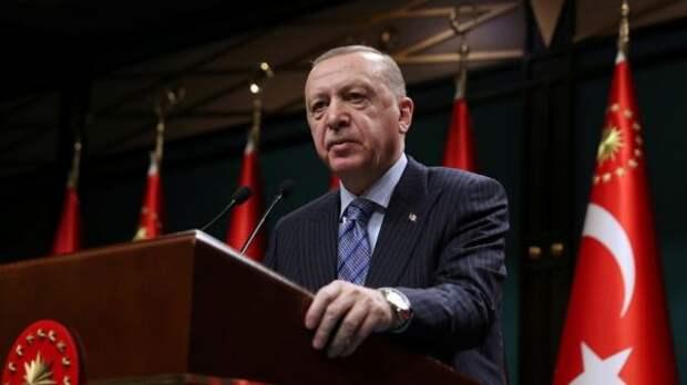 Эрдоган проклял власти Австрии заподнятые над федеральными зданиями флаги Израиля