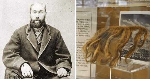 Как индейцы скальпировали англичанина, а тот выжил и передал скальп в музей: история Уильяма Томпсона