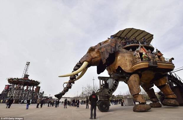 Парк аттракционов «Машины острова Нант» во Франции: обитель механических существ