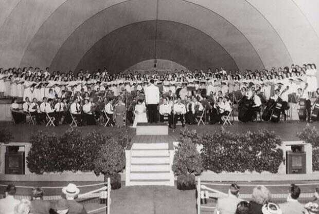 Симфонический оркестр на сцене