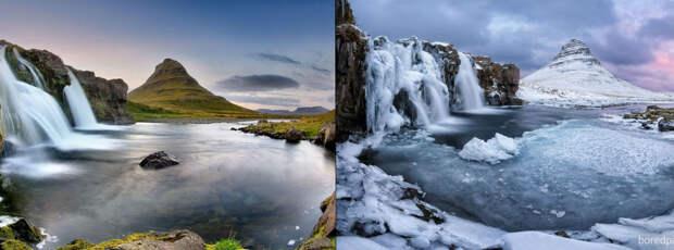 Волшебные снимки живописных мест до и во времязимы