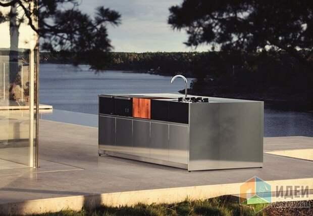 Летняя кухня из нержавеющей стали, работающая на газе, Röshults AB