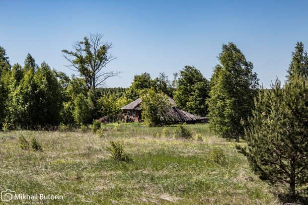 В этом селении осталась только одна семья. Доехал до починка и пообщался с последними жителями