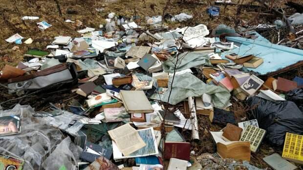 Выброшенные книги. Фото из открытого доступа