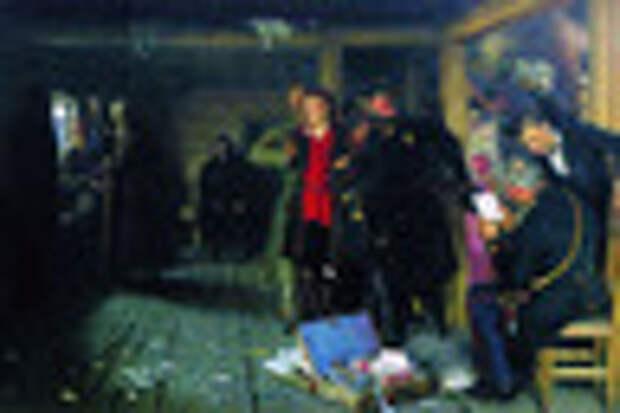 Картина Ильи Репина «Арест пропагандиста»