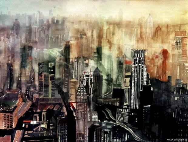 Акварельные города