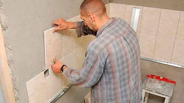 Как положить плитку в ванной своими руками