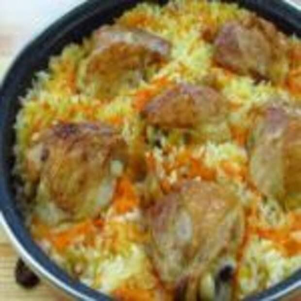 Рис, запеченный с куриными бедрами