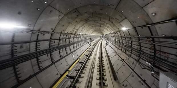 Собянин дал старт проходке тоннеля метро от «Пыхтино» до «Рассказовки» Фото: Д. Гришкин mos.ru